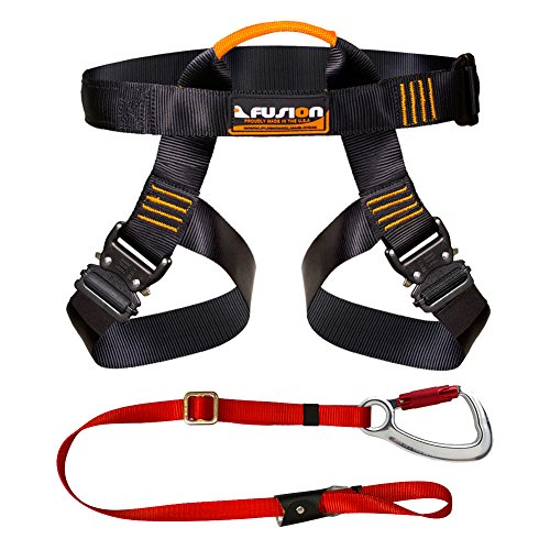 Fusion Climb Pro Backyard Zip Line Kit Harness Lanyard Bundle FK-A-HL-02