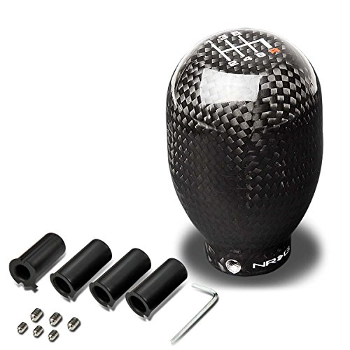 NRG SK-100BC-1 Universal 42mm 6-Speed Black Carbon Fiber Shift Knob