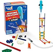 hand2mind Moving Creations with K'NEX, Book and Building Kit for Kids Ages 8-12, 9 Models & 18 Science