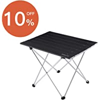 Foldable Portable Aluminum Table with Carry Bag for Outdoor Camping, Hiking and Picnic