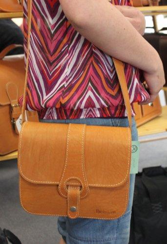 Caccia custodia TH389-07 borsa a tracolla in pelle colore marrone naturale Original Thielemann/nera