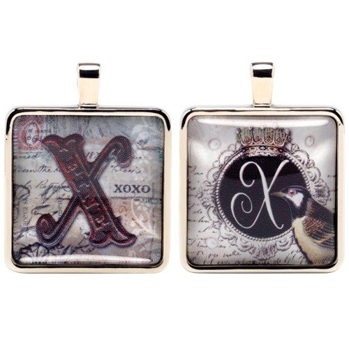 [Santa Barbara Design Studio Alphabet Letter Jewelry Charm by Artist Sally Jean, X for XOXO] (Unique Santa Costumes)
