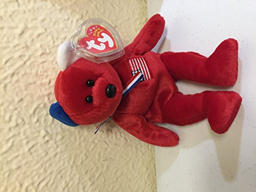 America 911 Memorial Red Teddy Bear - Ty Beanie Babies ()