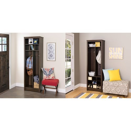 Prepac 3-piece Space-Saving Entryway Organizer Collection - Espresso