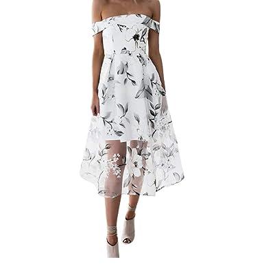 438ab400fbc2 UOFOCO Summer Dress for Women Maxi Dress Off Shoulder Floral Printed ...
