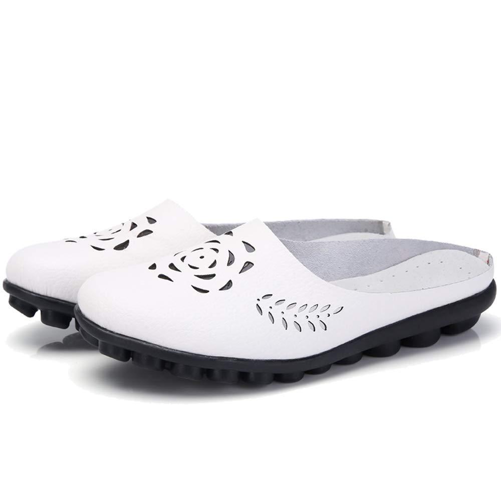 Gaatpot Mujer Mocasines de Cuero Verano Vintage Flores Loafers Zapatos Casual Respirable Planos de Deslizamiento Zapatos de Conducci/ón Zapatos Zapatillas para Caminar