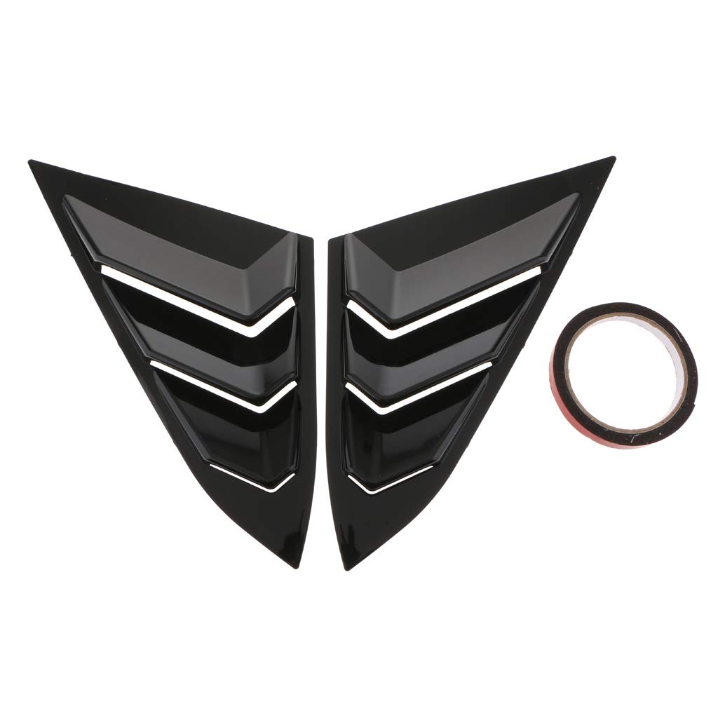 Flameer 2X ABS Car Auto Decorative Intake Scoop Turbo Bonnet Vent Cover Hood for Honda Civic | Glossy Black