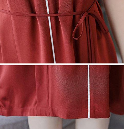Mujer Corta Vestido Rojo Para Cóctel E Manga girl x4CqIY55wH