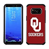 Prime Brands Group Textured Team Color Cell Phone Case for Samsung Galaxy S8 Plus - NCAA Licensed The University of Oklahoma Sooners