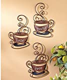 Set of 3 Metal Coffee Cups (Kitchen)