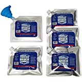 Set of 5 Cooler Shock lunch bag size ice packs - high performance 18 degree Fahrenheit using phase change science to achieve 8-10 hour cooling - avoid spoilage so you can eat your lunch! Safe US Made