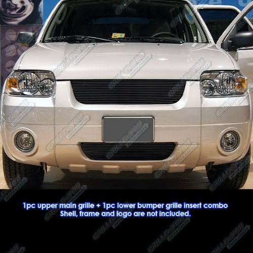 APS Compatible with 05-07 Ford Escape Black Billet Grille Grill Combo Insert N19-H33978F