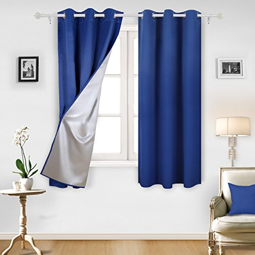 Deconovo Decorative Blackout Curtains with Silver Backing Ro
