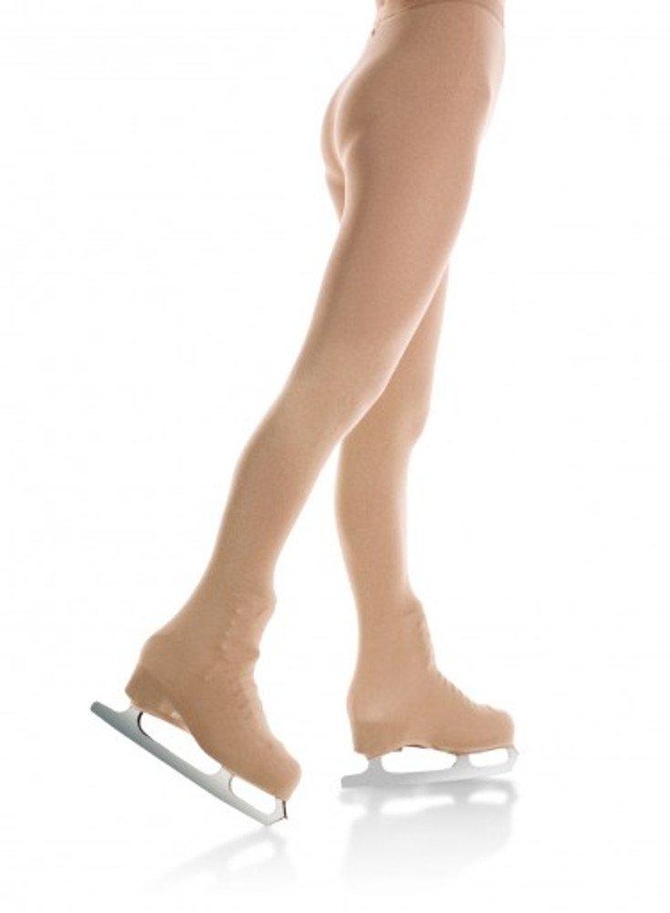 Mondor 3372 Boot Cover Natural Figure Skating Tights - Light Tan - M