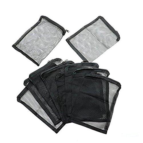 IDS Aquarium Filter Media Bags for Pelletized Carbon, Bio Balls, Ceramic Rings, Ammonia Remover, Black, 10 ()