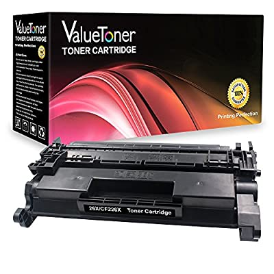 ValueToner Replacement for 26X CF226X 9000 Pages High Yield (1 Black) Compatible Toner Cartridge Replacement for LaserJet Pro M402n, Pro M402dw, Pro M402dn, MFP M426fdn, MFP M426fdw Printer