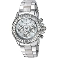 Invicta Women's 'Angel' Quartz Stainless Steel Casual Watch, Color:Silver-Toned (Model: 22968)