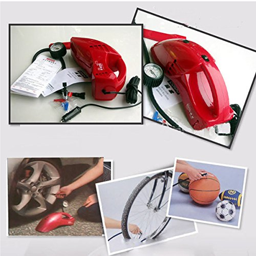 HITSAN Coido 6023 12V 55W Multi-function Portable Car Vacuum Cleaner Red One Piece