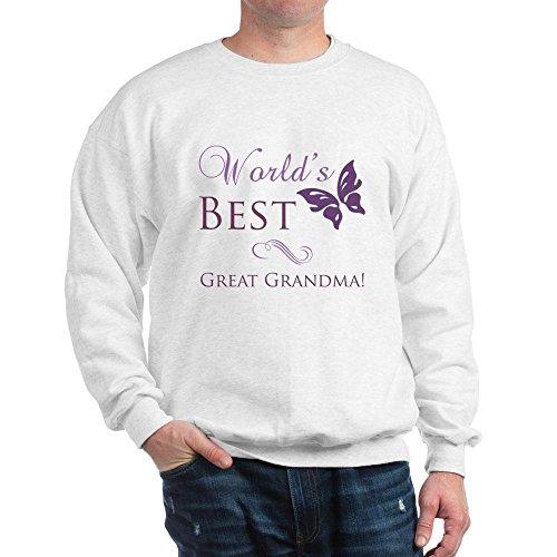 CafePress World's Best Great Grandma Sweatshirt Classic Crew Neck Sweatshirt White ()