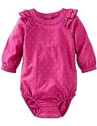 OshKosh B'gosh Baby Girls' Woven Ruffle Bodysuit (Baby)