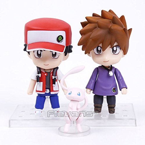 "Pokemon Nendoroid No, 612 Trainer Red & Green 4""/10cm Action Figure New In Box"