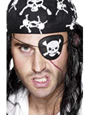 Smiffy's Pirate Eyepatch with Skull and Crossbones