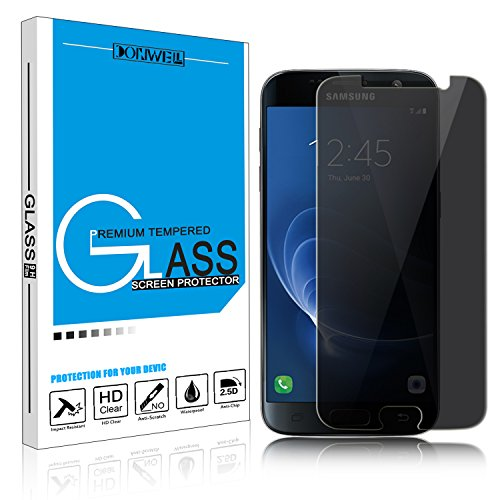 Samsung Galaxy S7 Screen Protector, DONWELL Shield Privacy Anti-Spy Tempered Glass Screen Protector for Galaxy S7/SM-G930A [Anti-Fingerprint] [Bubble Free] [Scratch-Resistant] [1 PACK]
