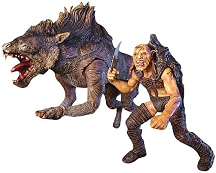 Lord Of The Rings Sharku And Warg Action Figures Loose Complete By Toybiz