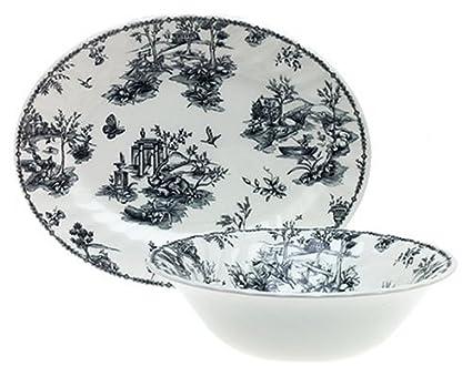 Amazon.com | Churchill China Black Toile 47-Piece Dinnerware Set Service for 8 Dinnerware Sets  sc 1 st  Amazon.com & Amazon.com | Churchill China Black Toile 47-Piece Dinnerware Set ...