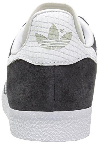 Adidas Originelen Gazelle Fashion Sneakers Utility Zwart Wit / Goud Metallic