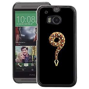 A-type Arte & diseño plástico duro Fundas Cover Cubre Hard Case Cover para HTC One M8 (Meaning Evil Religion Adam Eve God Snake)