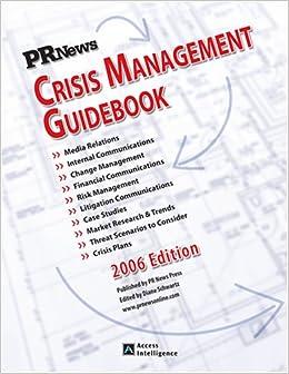 5cbe4a47187f5 Crisis Management Guidebook: PR News: 9781582710921: Amazon.com: Books