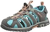 Hi-Tec Girls' Cove Junior Hiking Sandals, Grey (Cool Grey/Curacao Blue/Papaya Punch 055), 5 UK