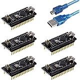 Emakefun for Arduino Nano V3.0, Nano board ATmega328P 5V 16M Micro-controller board with USB cable (Pre-soldered Nano 5pcs)