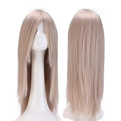 24 quot (60cm) Pelucas Disfraces Largas con Flequillo para Mujer Pelo  Natural Peluca Sintética edab9b02470d