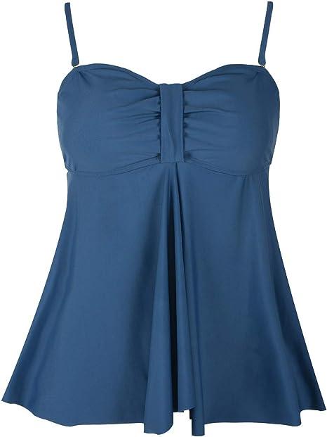 Amazon.com: Hilor traje de baño para mujer Flyaway Tankini ...