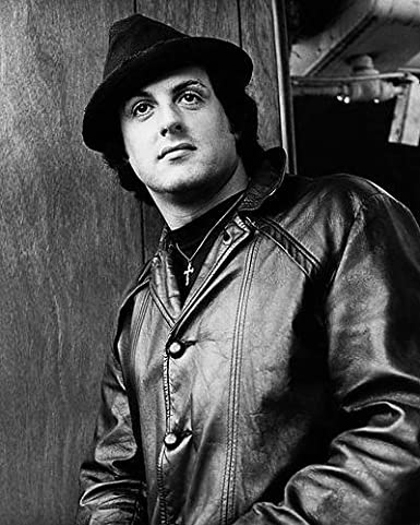 Sylvester Stallone 11x14 Promotional Photograph in leather jacket and hat  as Rocky Balboa at Amazon s Entertainment Collectibles Store 113d366832e
