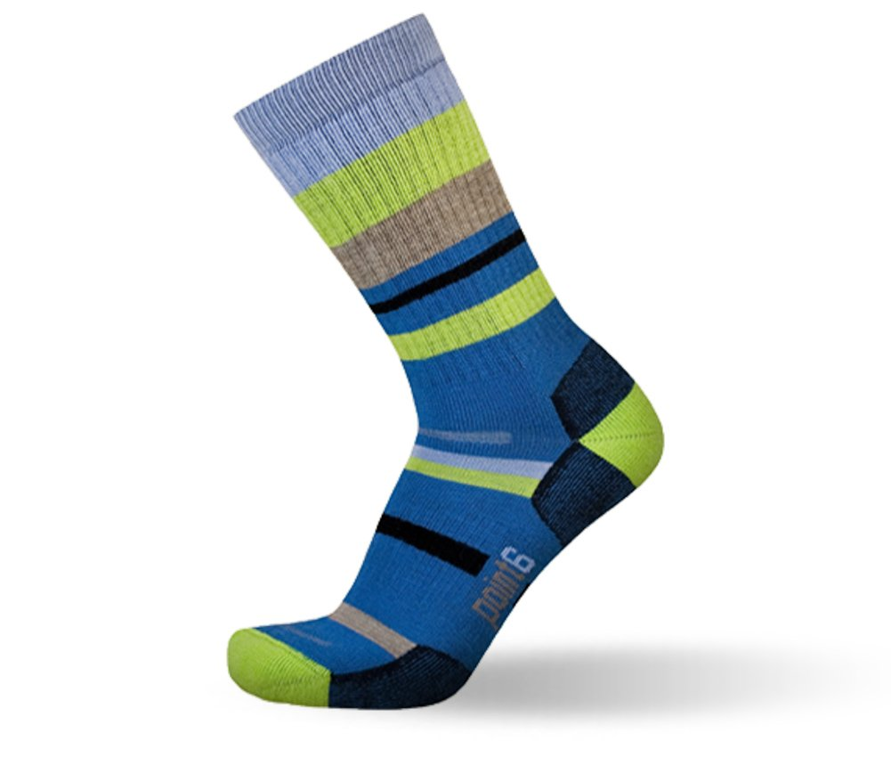 Point6 Mixed Stripe Medium Crew Sock