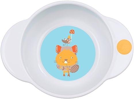 Badabulle Microwave Safe Plate Blue Beaver