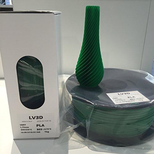 Filament LV3D PLA Vert 1.75mm (bobine 1kg) – Made in France