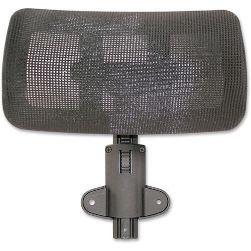 Lorell Hi-Back Chair Mesh Headrest, Black