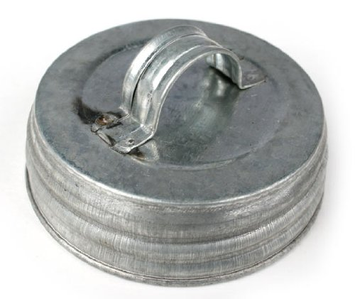 Package of 12 - Galvanized Tin Small Mouth Screw on Canni...