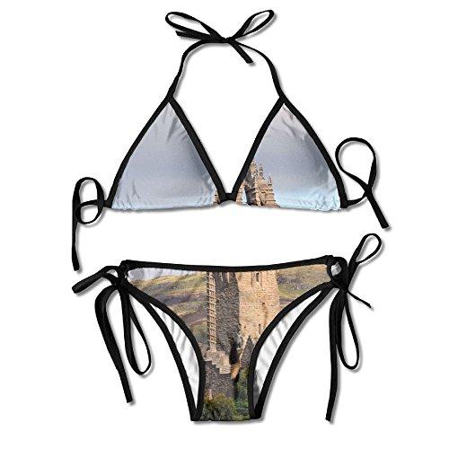 Wallace Monument - ALEISIN The Wallace Monument Bikini Women's Summer Swimwear Triangle Top Bikinis Swimsuit Sexy 2-Piece Set