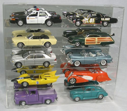 Diecast Display Case 1:18 Scale fits 10 Large Cars