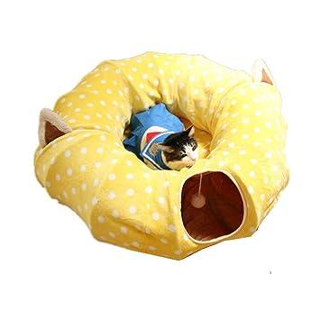 Voy a tomar acción ahora Bolsa para Gatos Gato túnel Túnel para Dormir Reposo de Juguete (Color : Amarillo): Amazon.es: Hogar