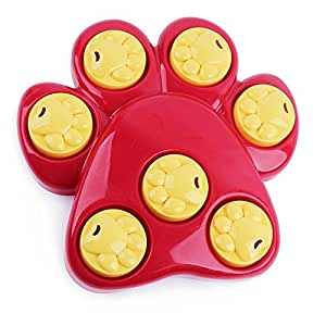 Multifunction She-love Pet Bowl Feeder 7 Holes Dog Paw Educational Toys Puppy Puzzle Toys