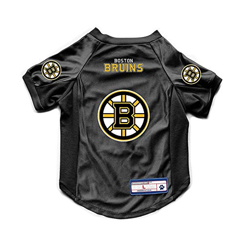 - NHL Boston Bruins Pet JerseyJersey Stretch, Team Color, Extra Large