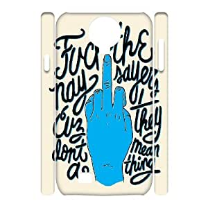 3D Cases for Samsung Galaxy S4, Typography Naysayers Fuck Middlefinger Cases for Samsung Galaxy S4, Yearinspace White