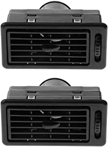 Universal RV ATV Heat AC Air Exhaust Vent Dash Ventilation Outlet for Car Truck Vehicles (Pack of 2, Black)