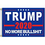 ERT Donald Trump Flag 3X5 Foot - 2020 Trump President Flags No More Bullshit Keep America Great Flag 3x5 ft with Brass Gromme